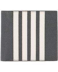 Thom Browne 4-bar Stripe Bifold Cardholder - Gray