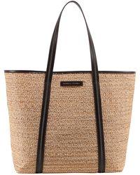 Brunello Cucinelli Logo Woven Tote Bag - Natural