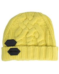 Off-White c/o Virgil Abloh Yellow Knit Pop Colour Beanie