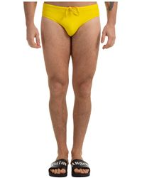 DSquared² Logo Print Swim Briefs - Yellow