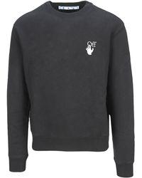 Off-White c/o Virgil Abloh Black Sweatshirt With Logo
