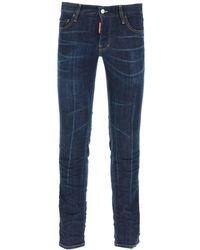 DSquared² Dark Wash Slim Jeans - Blue