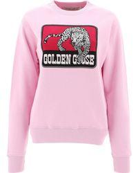 Golden Goose Jaguar Print Sweatshirt - Pink