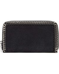 Stella McCartney Zip Around Falabella Wallet - Black