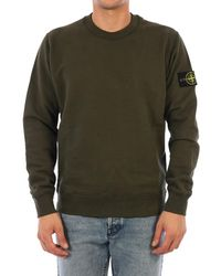 Stone Island Logo Patch Sweatshirt - Green
