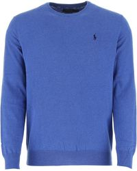 Polo Ralph Lauren Logo Embroidered Jumper - Blue