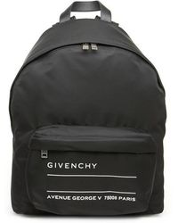Givenchy - Logo Print Nylon Backpack - Lyst