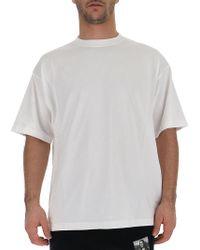 37615b474 Lyst - Balenciaga Logo T-shirt in White for Men