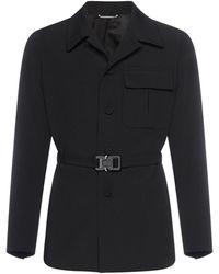 Dior Single-breasted Belted Coat - Black