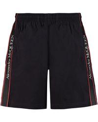 Alexander McQueen Logo Tape Swim Shorts - Black