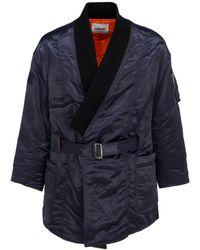 Ambush Kimono Ma-1 Hybrid Belted Coat - Blue