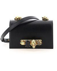 Alexander McQueen Mini Jeweled Satchel - Black