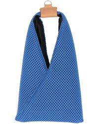 MM6 by Maison Martin Margiela Japanese Net Mesh Mini Crossbody Bag - Blue