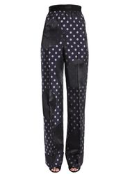 Maison Margiela Wide Legged Polka Dot Trousers - Blue