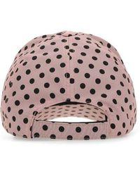 Miu Miu Printed Nylon Baseball Cap - Pink