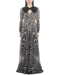 Givenchy Floral Printed Gown - Multicolour