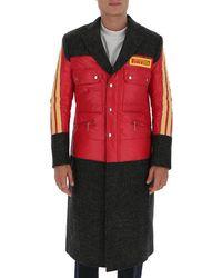 Junya Watanabe X Pirelli Contrast Panel Coat - Red