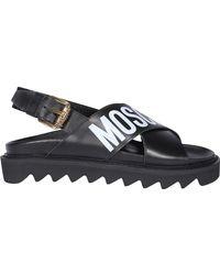 Moschino - Logo-print Sandals - Lyst
