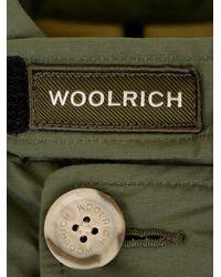 Woolrich Hooded Fur Trimmed Coat - Green