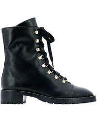 Stuart Weitzman Kolbie Military Boots - Black