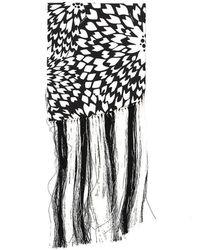 Missoni Floral Patterened Tassel Scarf - Black