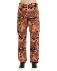 McQ Mcq By Alexander Mcqueen Cotton Trousers - Orange