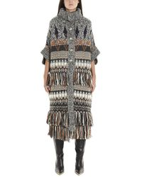 Stella McCartney - Knitted Fringe Detail Coat - Lyst