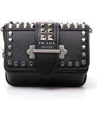 Prada Studded Chest Belt Bag - Black