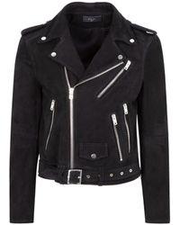 Amiri Leather Zipped Jacket - Black