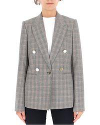 Stella McCartney Checked Blazer - Grey