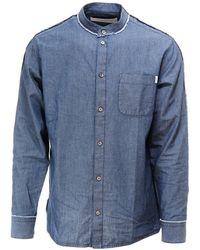 Golden Goose Bandana Print Long-sleeved Shirt - Blue