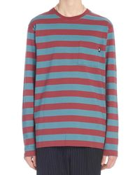 Stussy Contrasting Stripes Long-sleeve Shirt - Blue