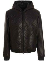 Fendi Ff Motif Hooded Jacket - Brown