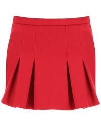 RED Valentino Shorts With Front Panel 38 - Red