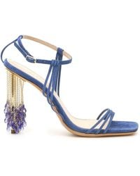 Jacquemus Lavandes 115mm Sandals - Blue
