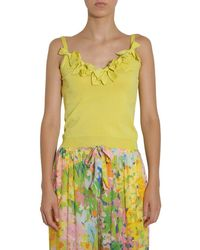 Boutique Moschino Top With Bows - Yellow
