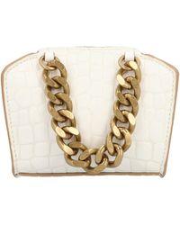 Stella McCartney Chunky Chain Micro Crossbody Bag - White