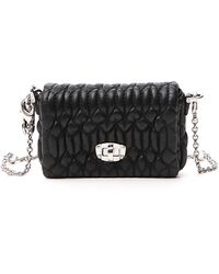 Miu Miu Cloquet Motif Mini Shoulder Bag - Black