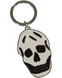 Alexander McQueen Skull Keyring - White