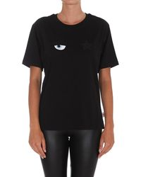 Chiara Ferragni - Eyestar Crewneck T-shirt - Lyst