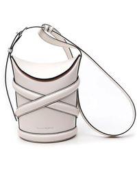 Alexander McQueen Curve Small Bucket Bag - White