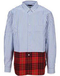 Comme des Garçons Patchwork Shirt - Blue