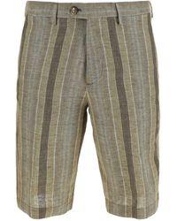 Etro Striped Print Bermuda Shorts - Multicolor