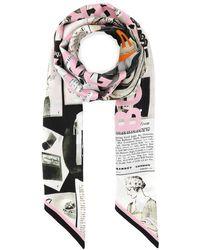Burberry Archive Editorial Print Skinny Scarf - Multicolour