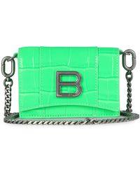 Balenciaga Hourglass Mini Chain Wallet - Green