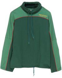 Martine Rose Panelled Drawstring Pullover - Green