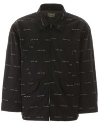 Fear Of God All Over Print Nylon Field Jacket - Black