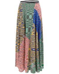 Missoni Patchwork Midi Skirt - Multicolor
