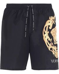 Versace Medusa Print Swim Shorts - Black