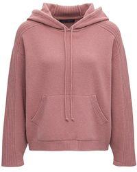 Alberta Ferretti Wool And Cotton Hoodie - Pink